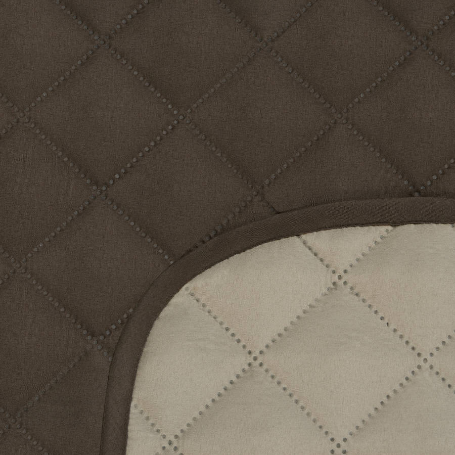 dark brown waterproof couch cover and chocolate color