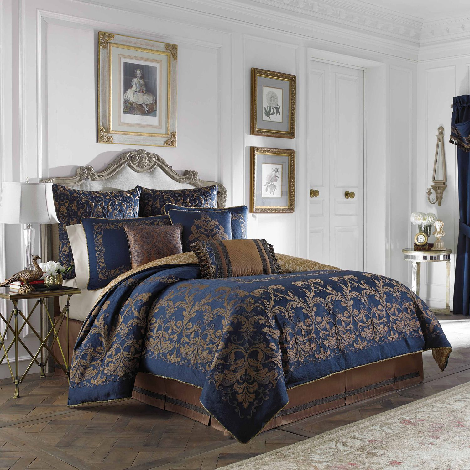 Elegant Blue Duvet Bedding Sets King