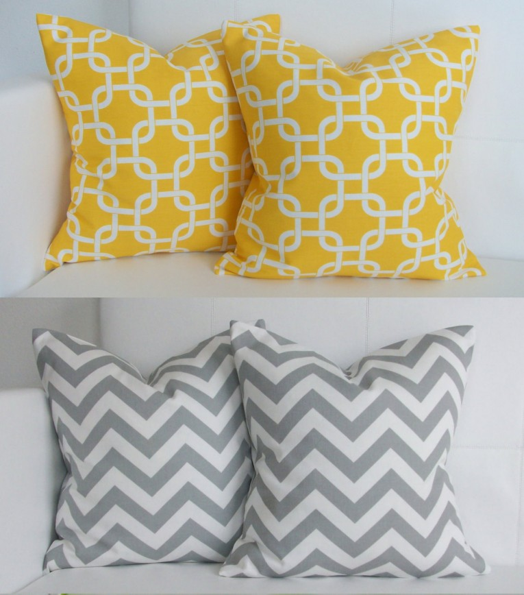 Elegant Yellow Throw Pillows With 20x20 Inches And With True Patterns Yellow Throw Pillows For Living Room Ideas