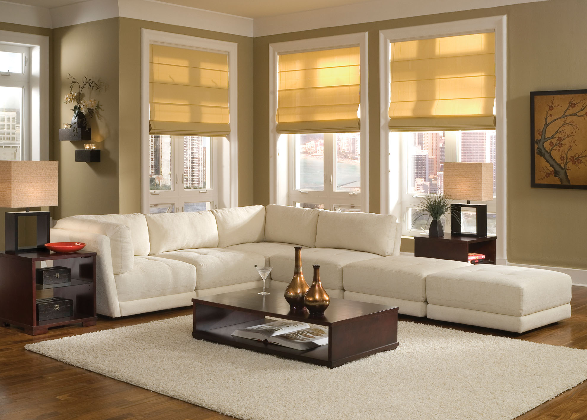 Elegant Furniture Combined with Living Room Sectionals: Fabulous Living Room Sectionals With Lowes Table And Sidetable