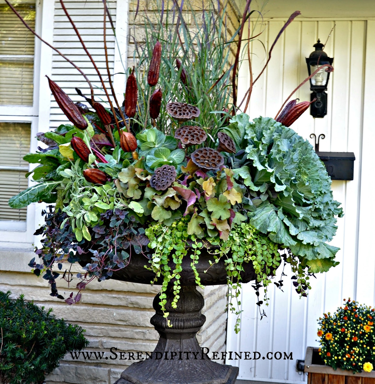 fascinating beautiful urn planters black color