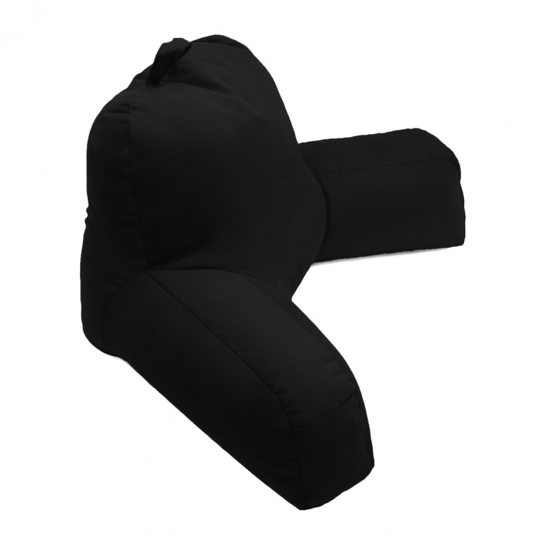Fashionable Black Backrest Pillow With Arms