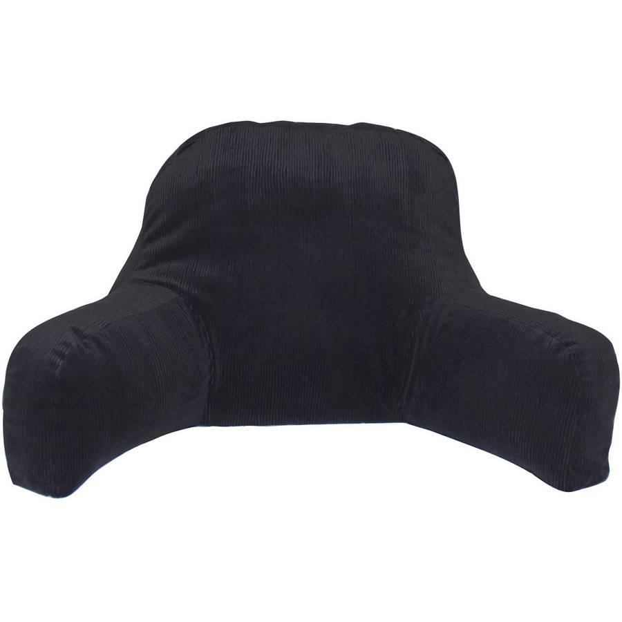 glamour backrest pillow with arms black color