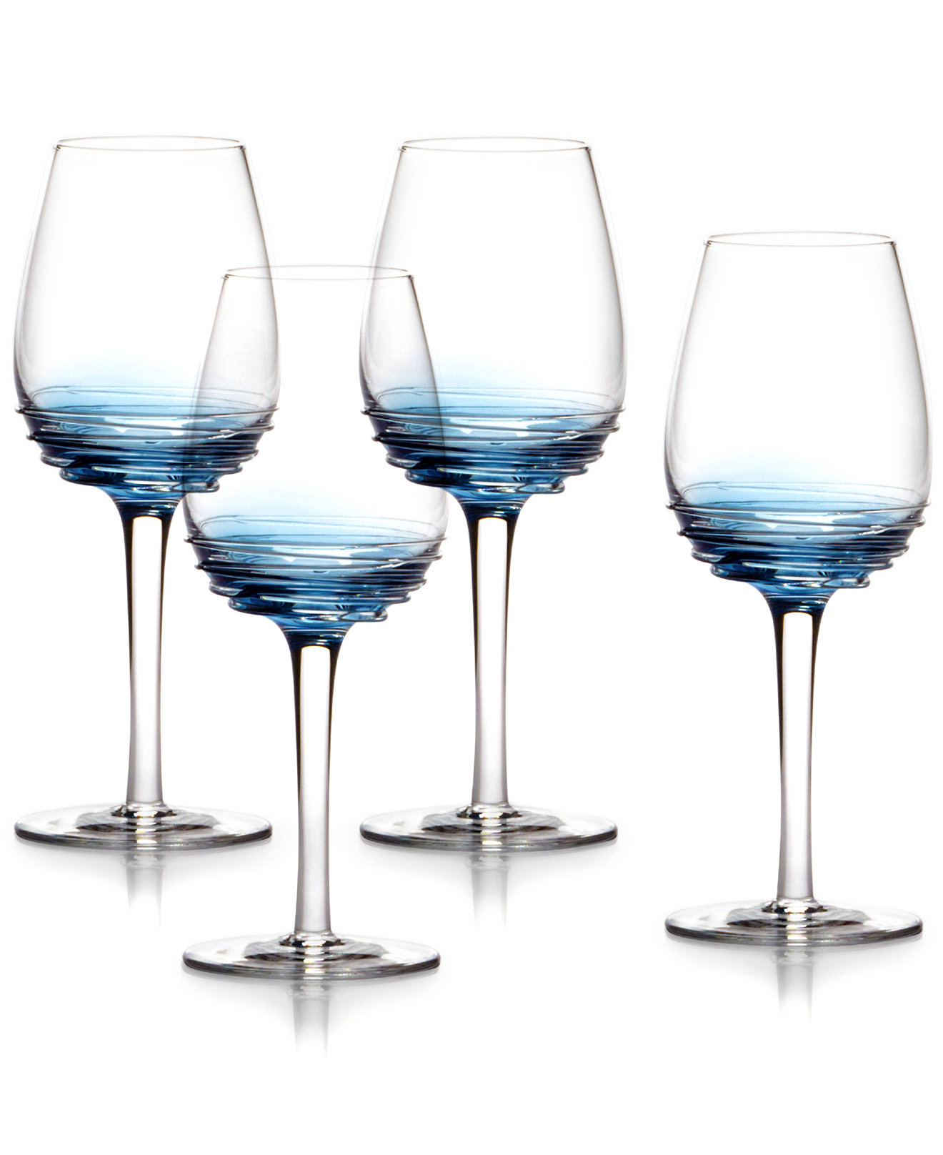 Gorgeous Design Mikasa Swirls Pattern Of 4 White Wine