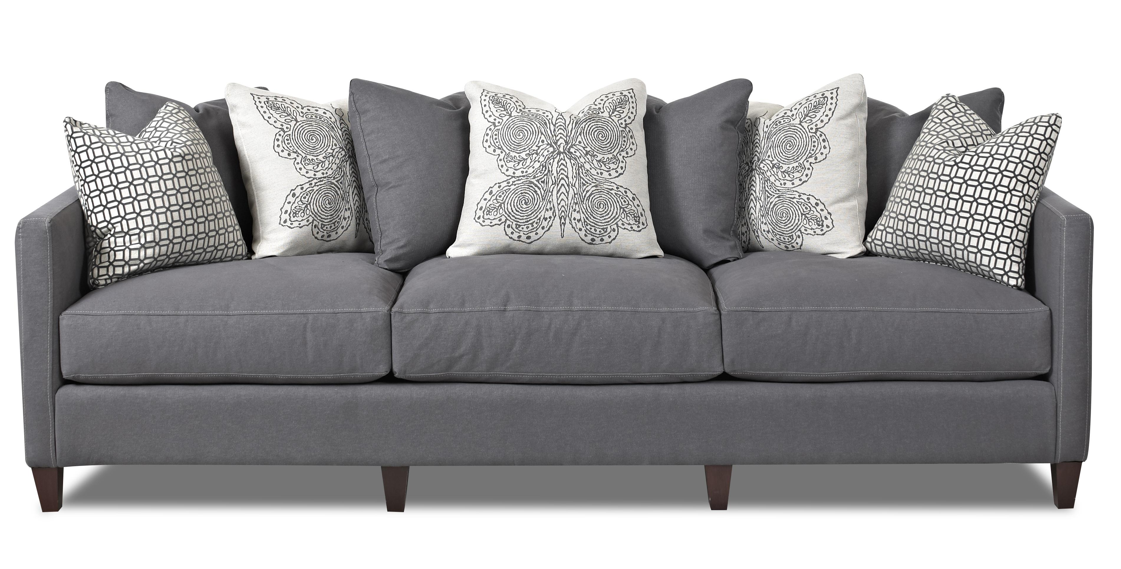 Gray Sofa And Sofa Pillows