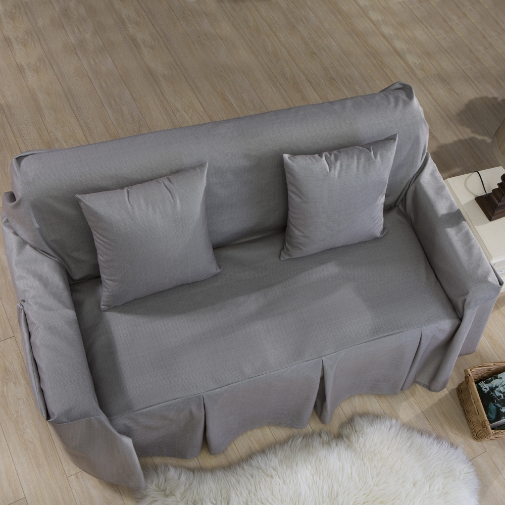 Shaped Sofa Cover For Home Grey Blue Sofa Slipcover Couch Cover - SH 7