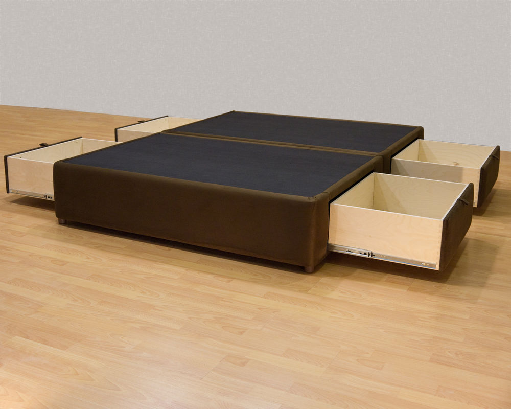 how to make queen size platform bed with storage