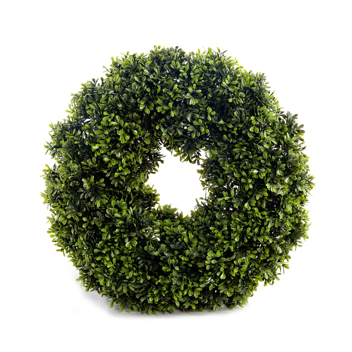 Interesting Artificial Boxwood Wreath Round Design