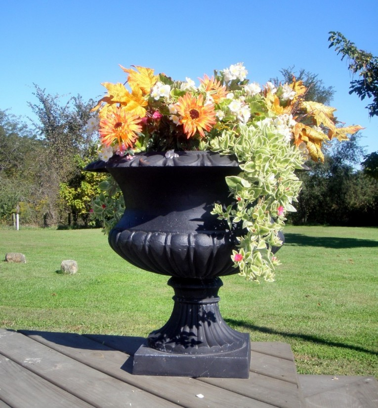 Large Big Black Urn Planters For Exterior