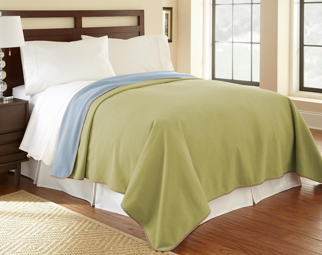 light green sheets with waterproof couch cover
