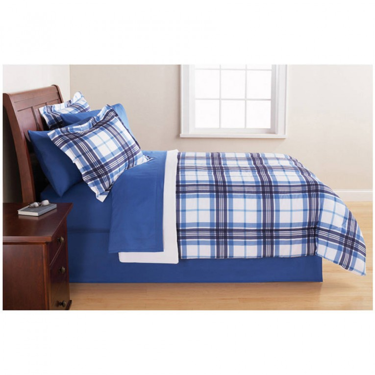 Lovely Comforters For Teens With Blue Color Simple Pattern