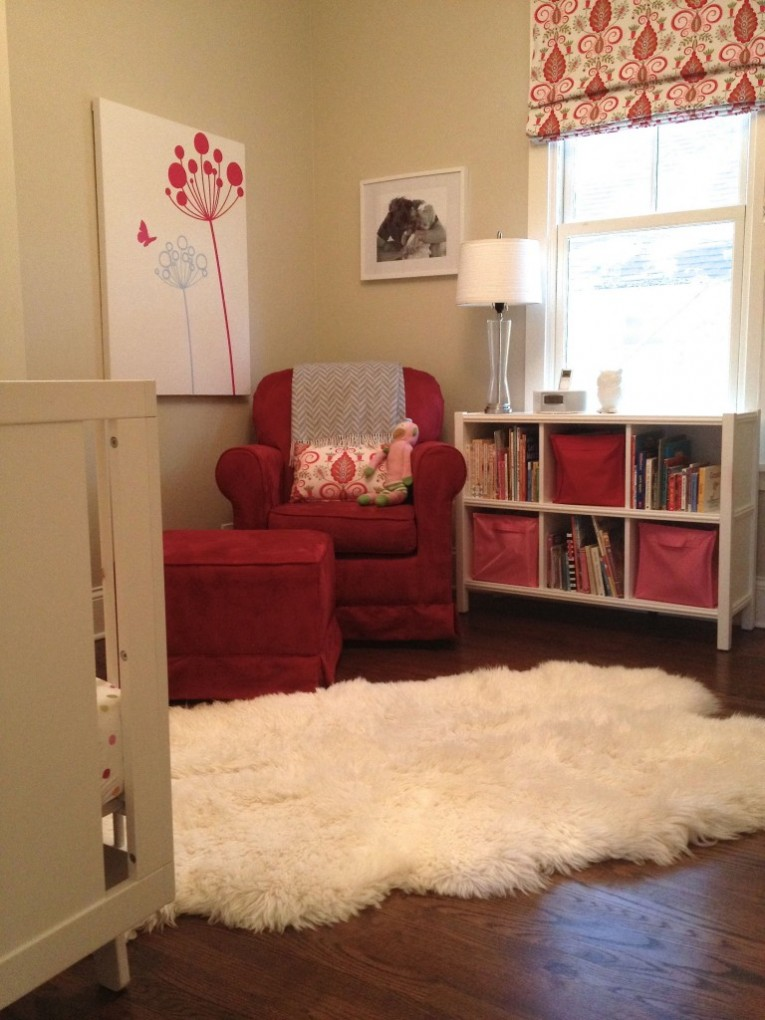 Lovely White Maples Rugs With Red Chairs And Table Also Cabinet