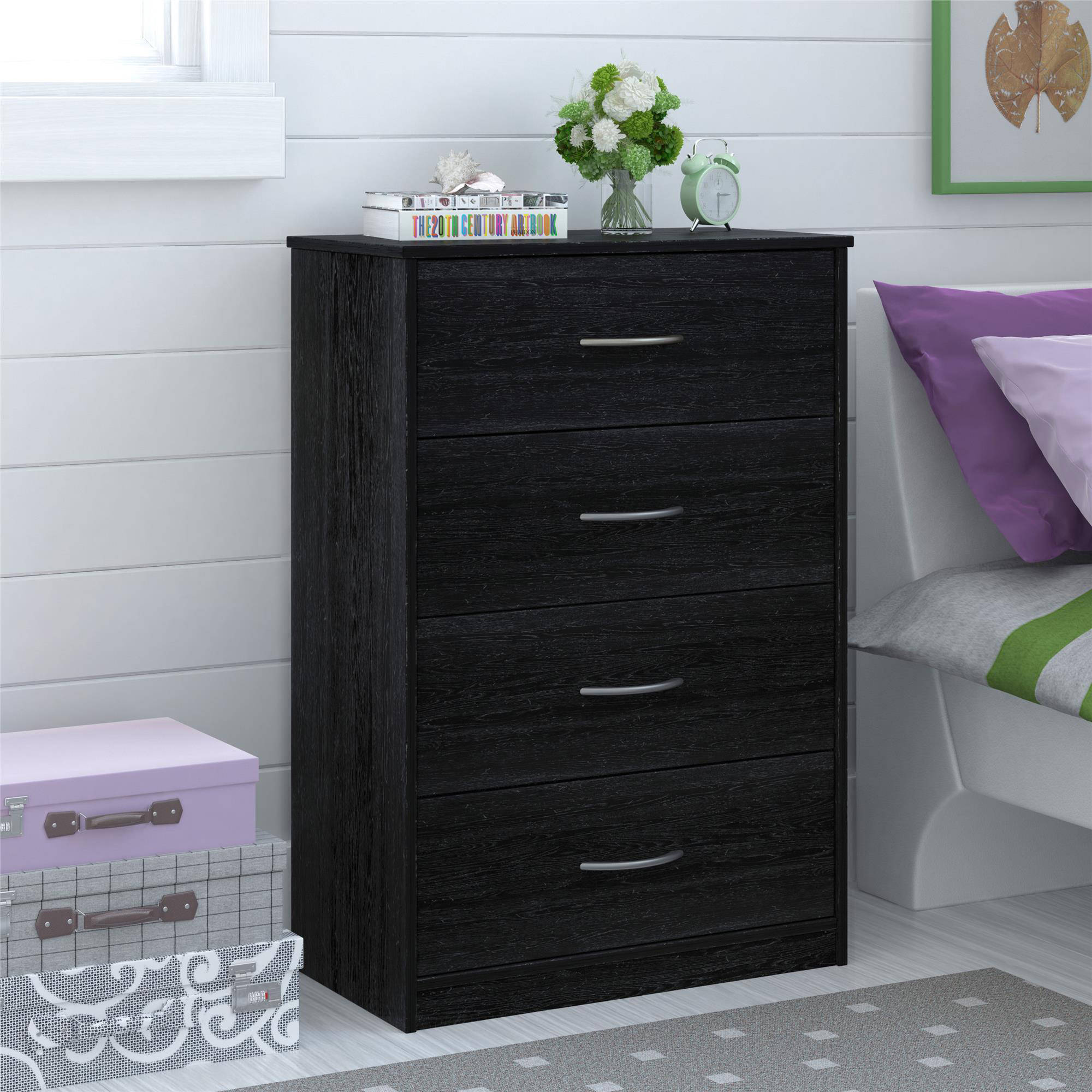 Unique Furniture Design Cabinet with 4 Drawer Dresser for Bedroom Ideas: Luxury 4 Drawer Dresser With Bedding Sets Comforters