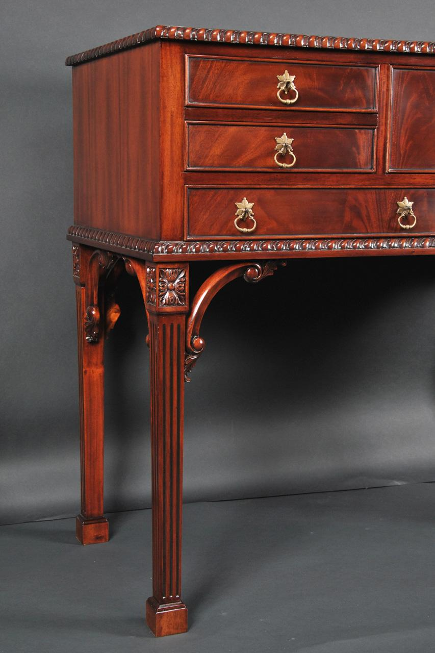 mahogany silverware chest with 25 height