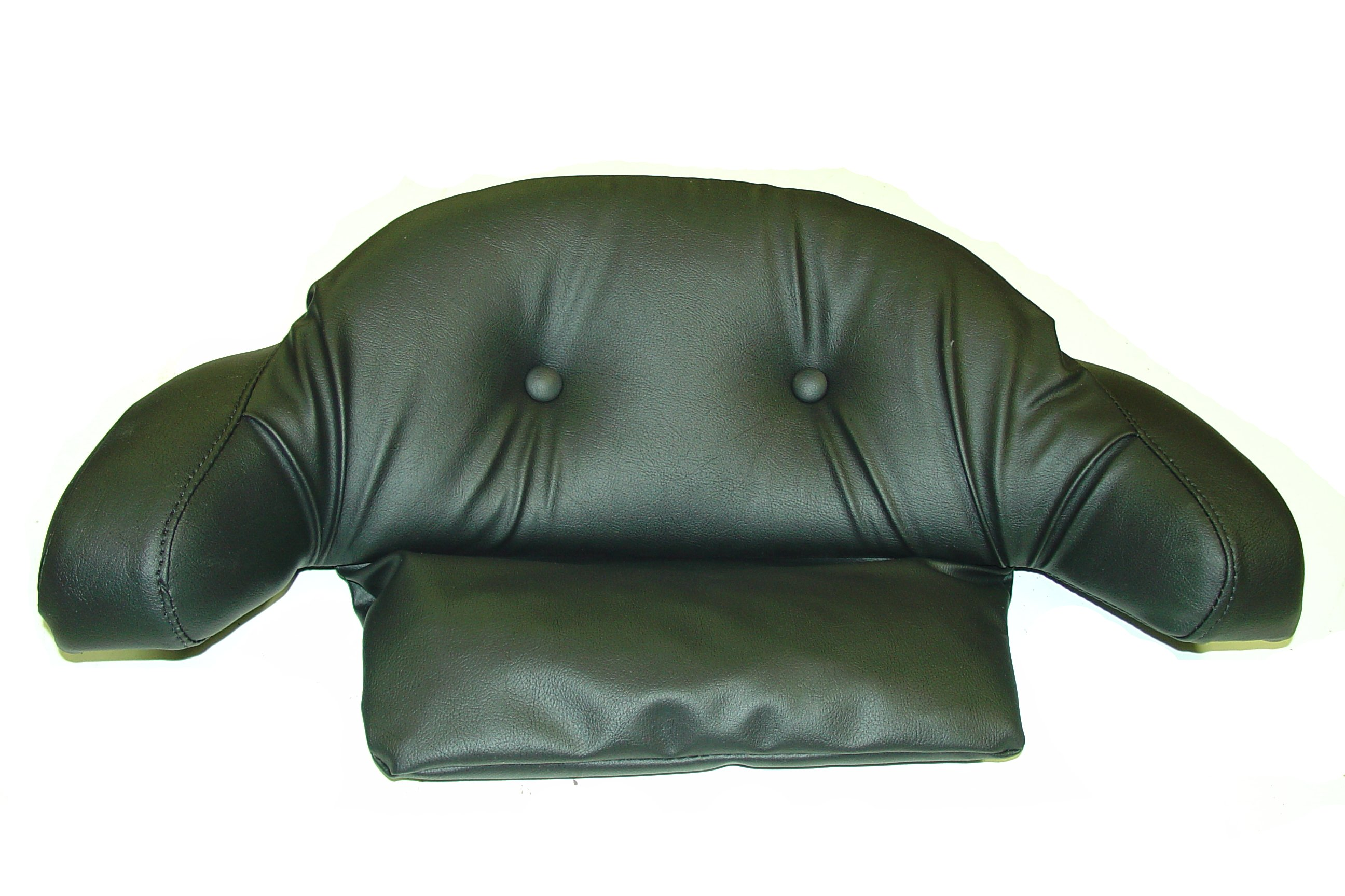 mesmerizing backrest pillow with arms with black leather