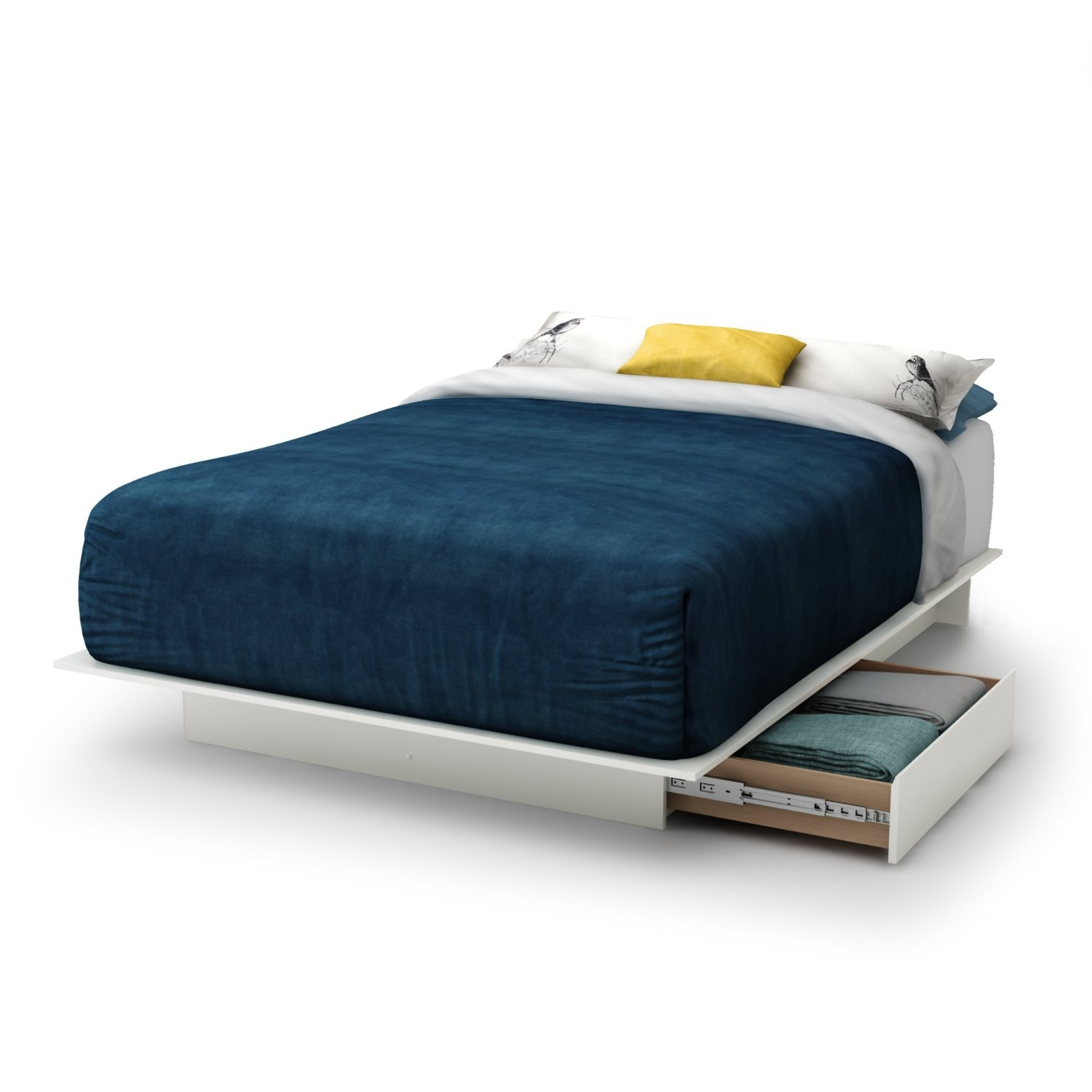 mesmerizing blue duvet queen size platform bed