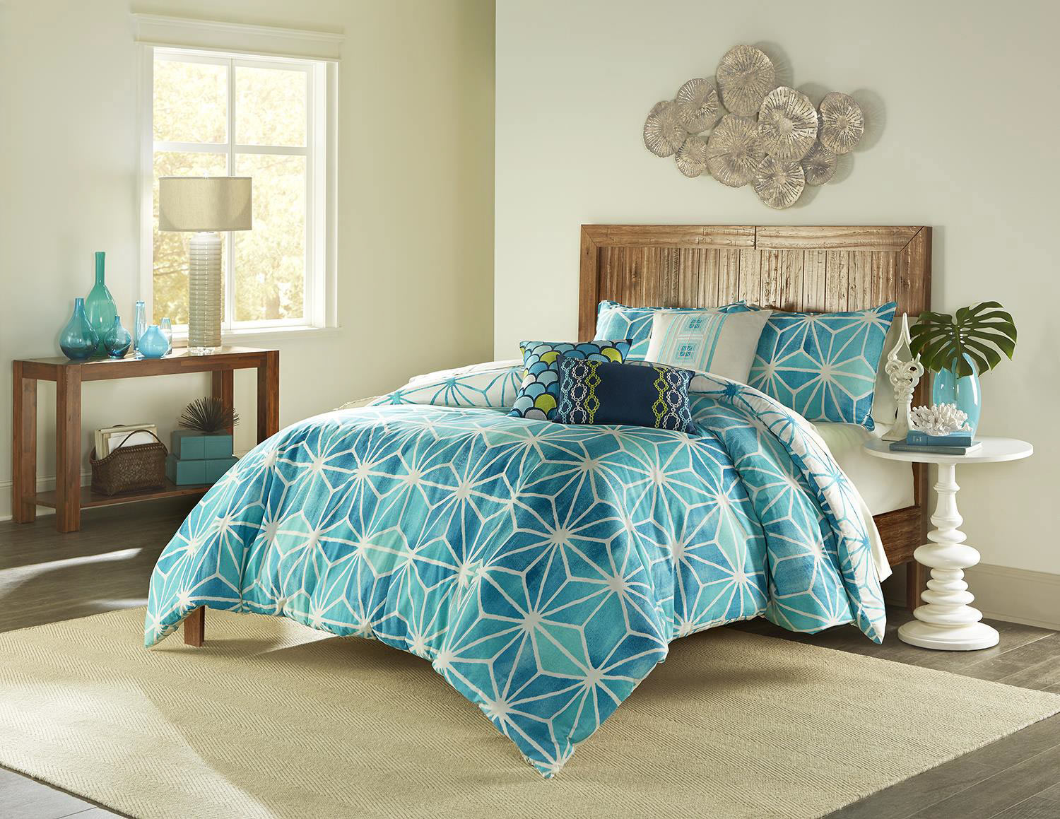 mesmerizing tel blue natori bedding and original rug