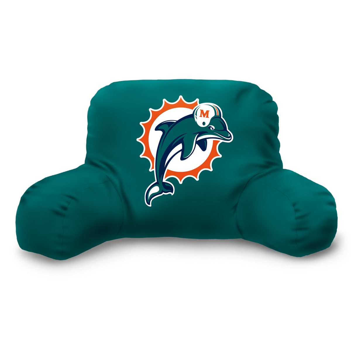 Alluring Backrest Pillow with Arms for Living Room Interior Ideas: New Green Dolphin Logo Backrest Pillow With Arms
