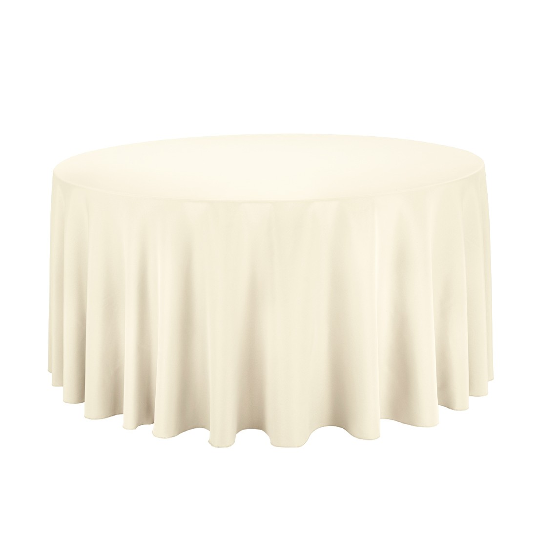 nice 120 round tablecloth cream color