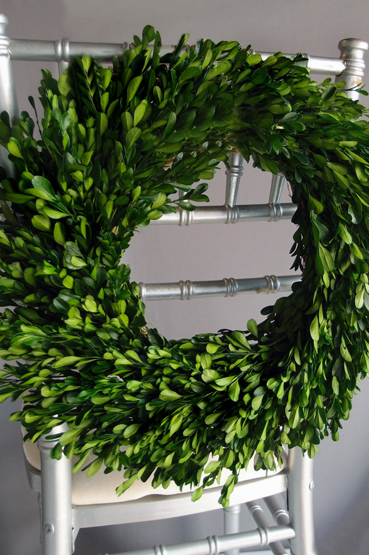 Interesting Artificial Boxwood Wreath with Simple Design for Exterior: OLYMPUS DIGITAL CAMERA