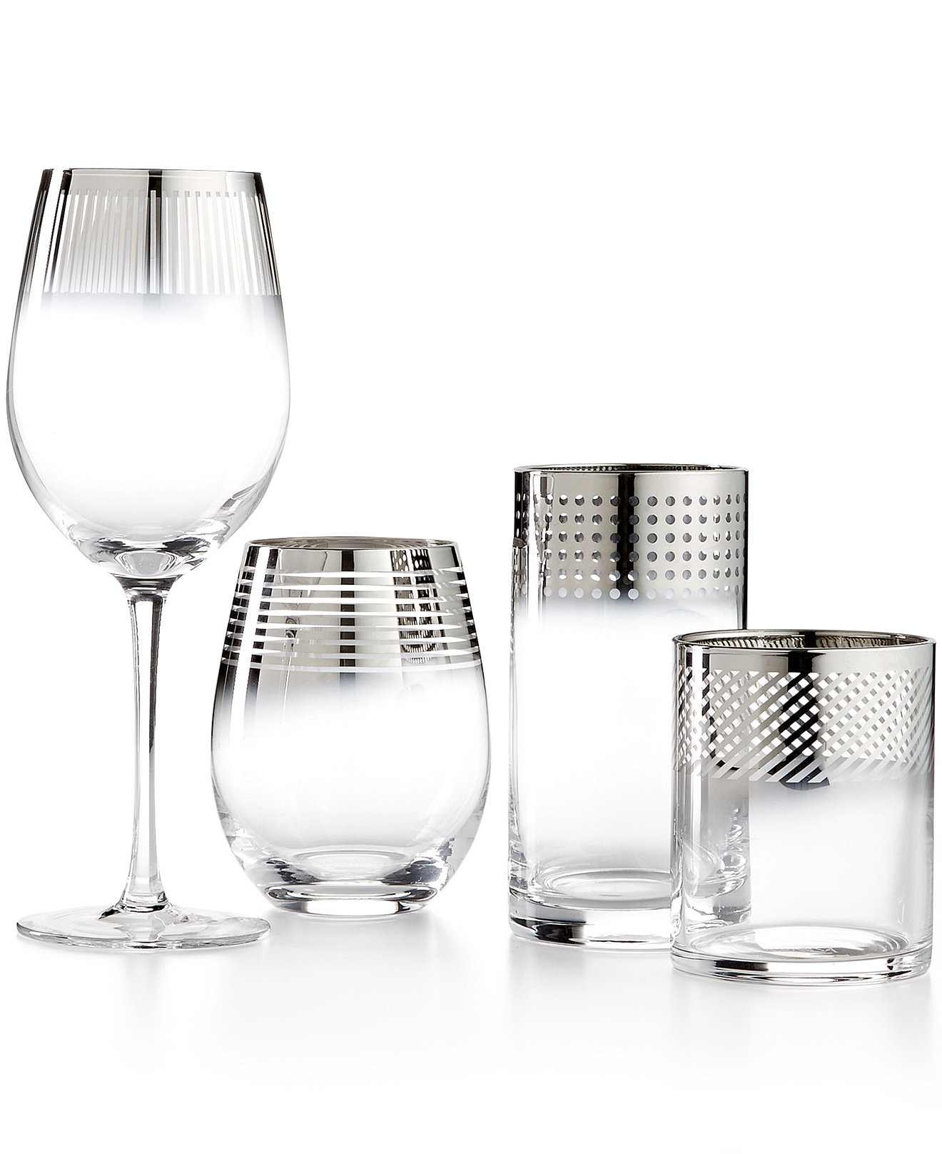 nice mikasa wine glasses with metallic collections
