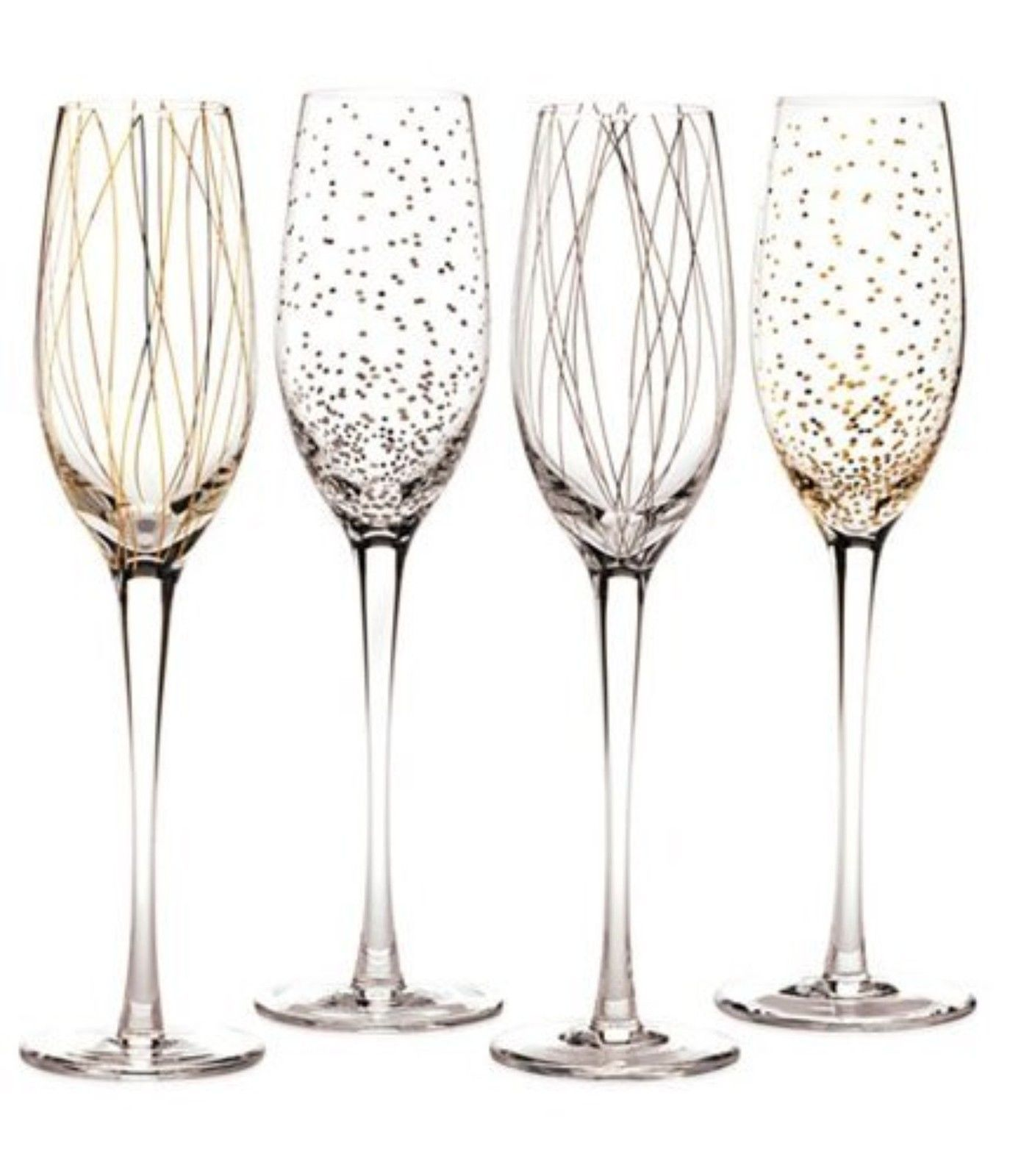 Nice Pattern On The Mikasa Wine Glasses