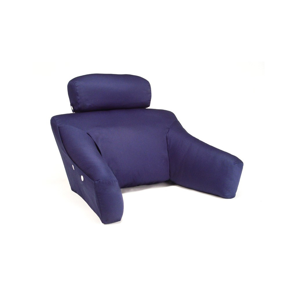 purple light backrest pillow with arms