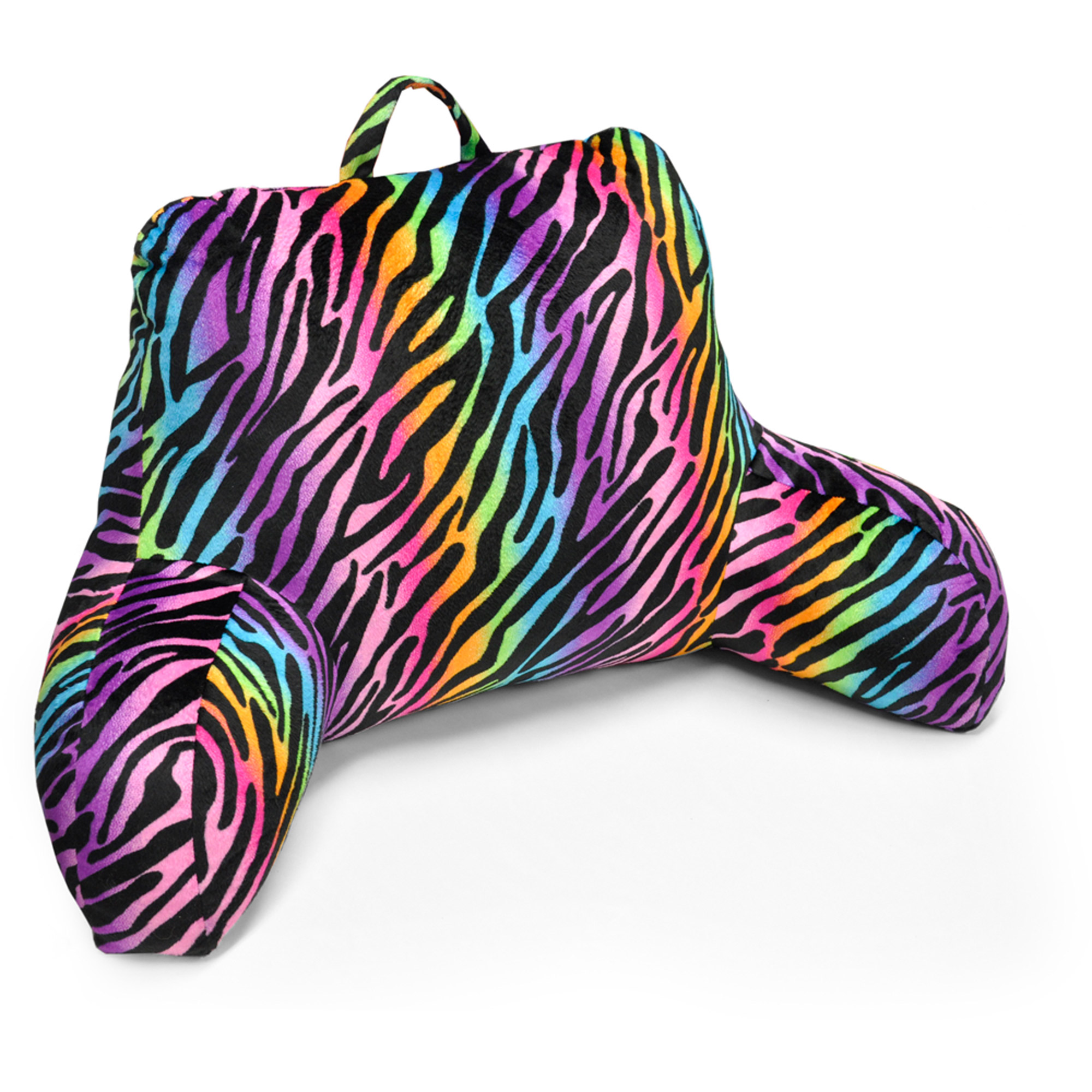 Alluring Backrest Pillow with Arms for Living Room Interior Ideas: Rainbow Animal Backrest Pillow With Arms Color