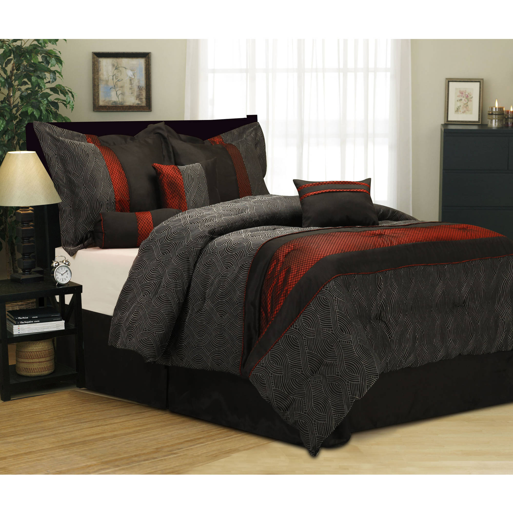 red and black bedding sets king