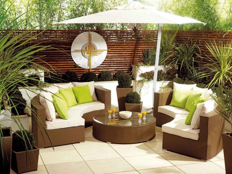 Stand Umbrella With Lowes Round Table And Wicker Rattan Chairs Sofa Plus Sofa Pillows