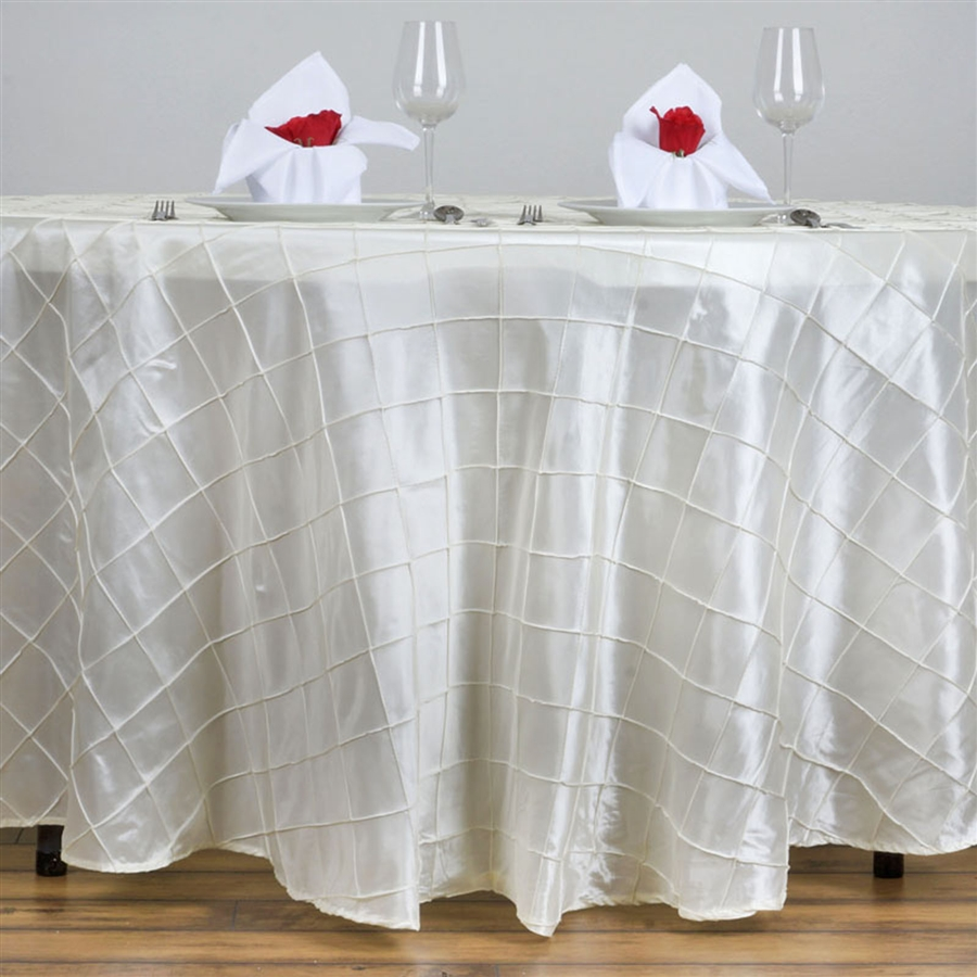 superb satin white 120 round tablecloth