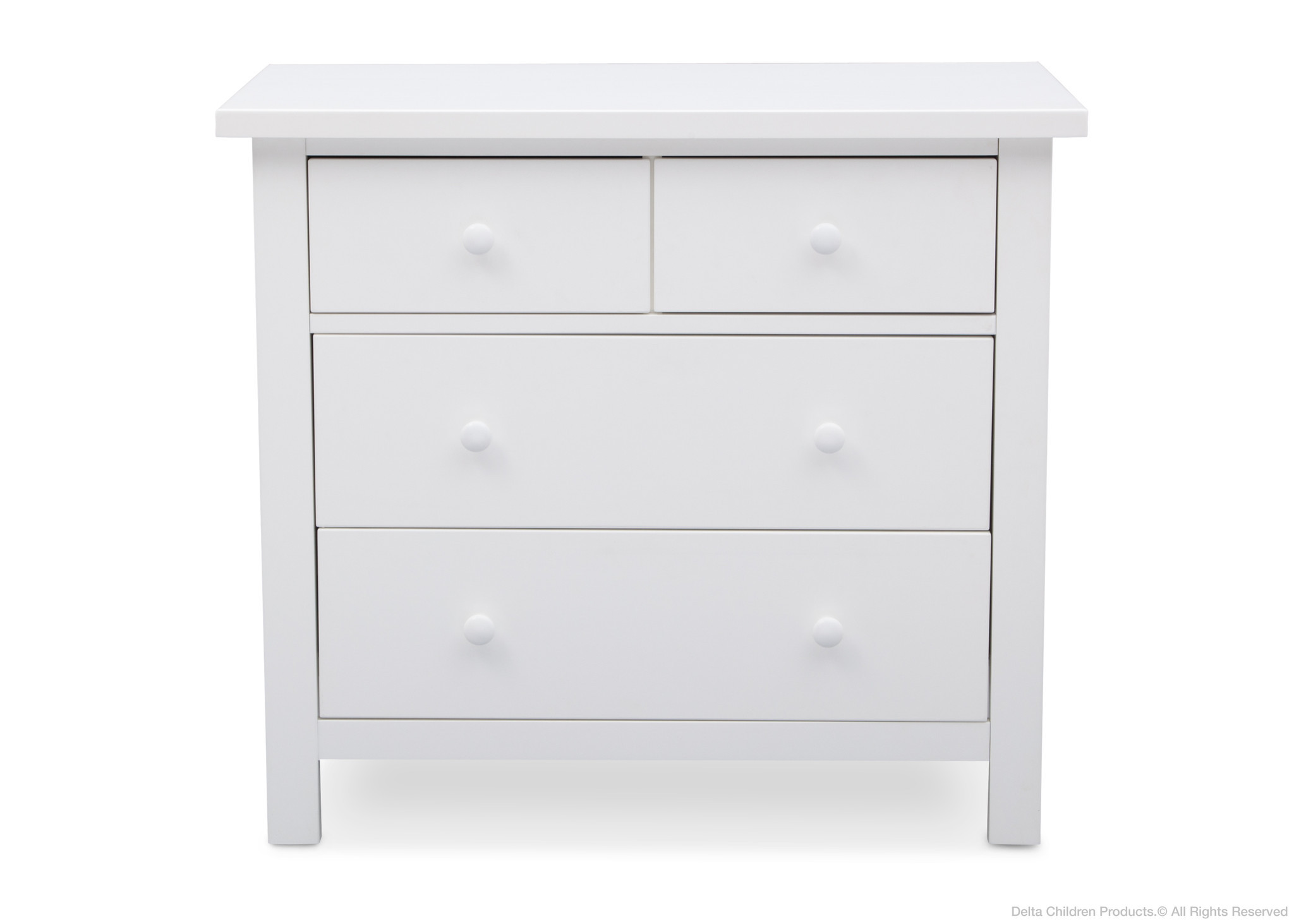 uniqe white 4 drawer dresser