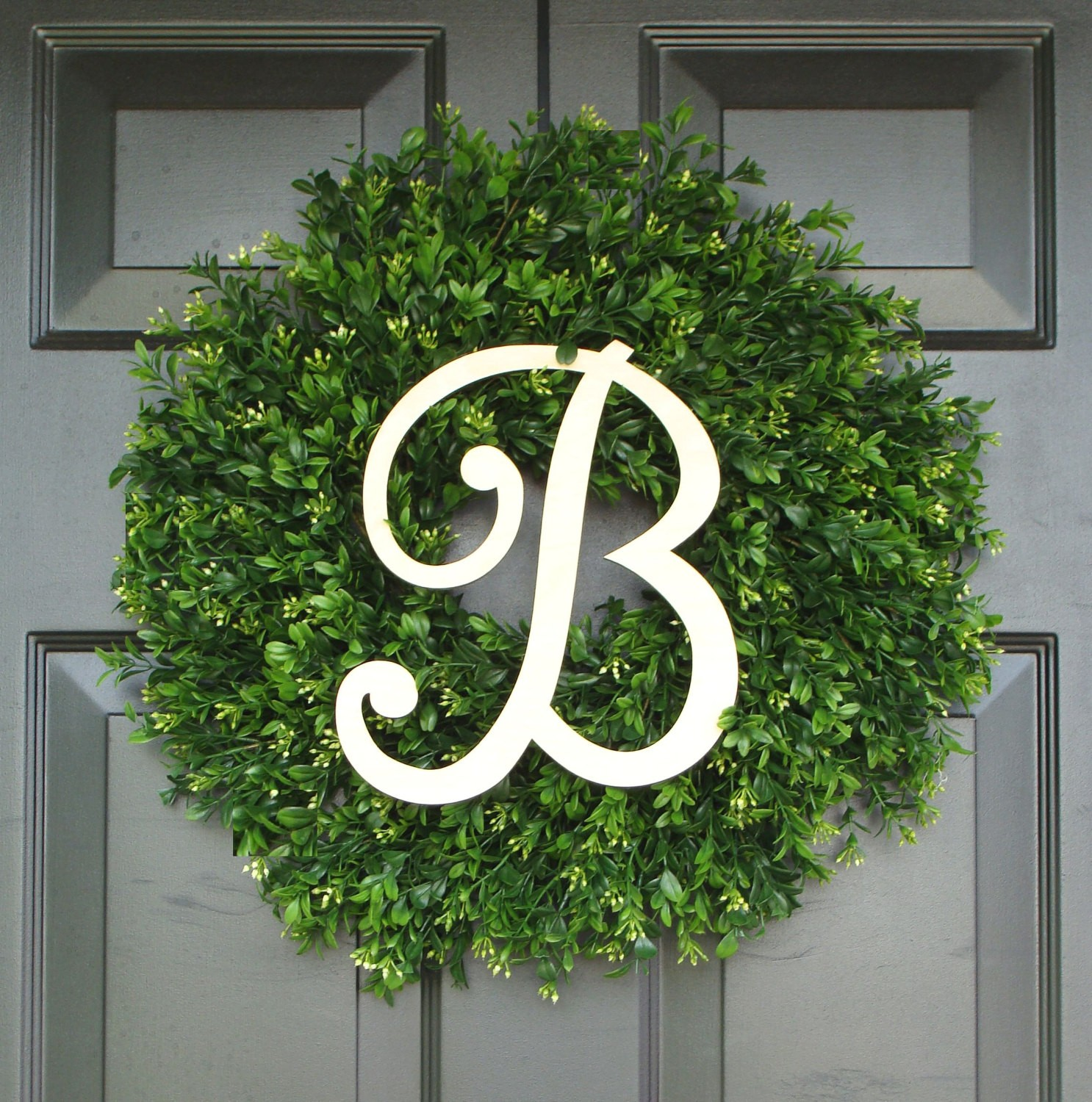 Unique Artificial Boxwood Wreath At Frontdoor
