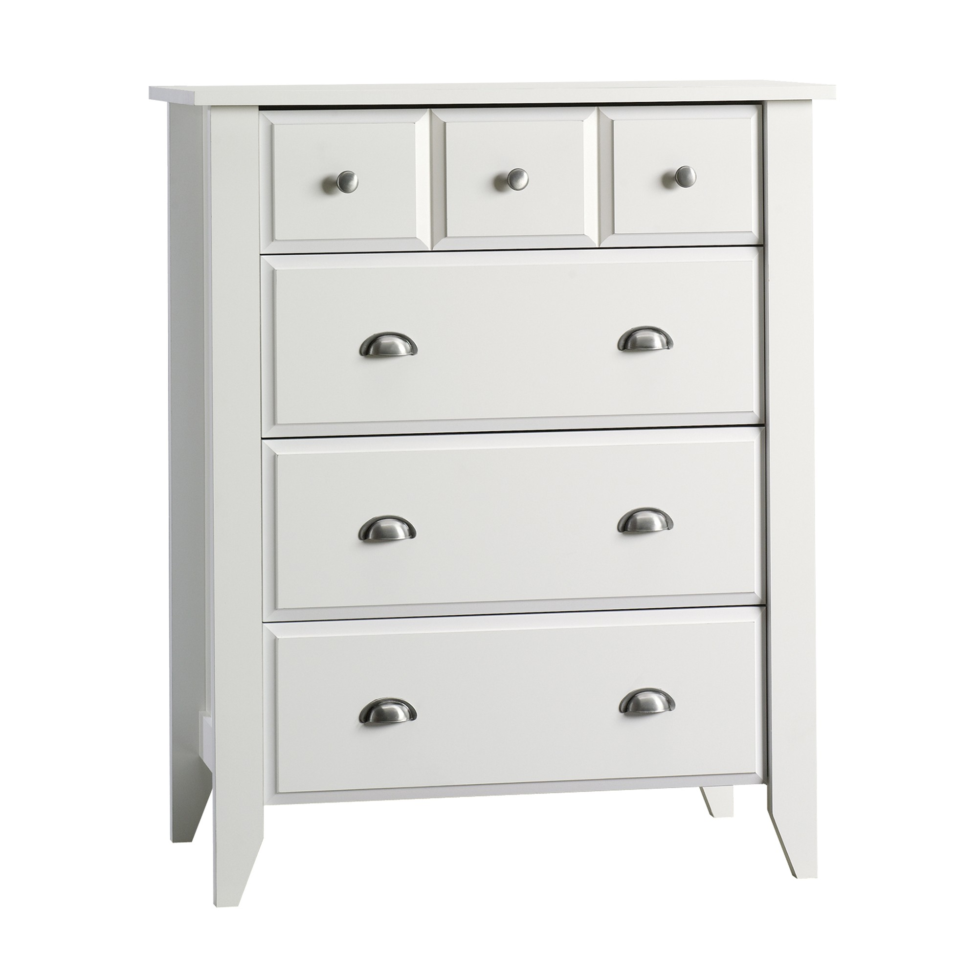 White 4 Drawer Dresser With 2 Mini Drawers