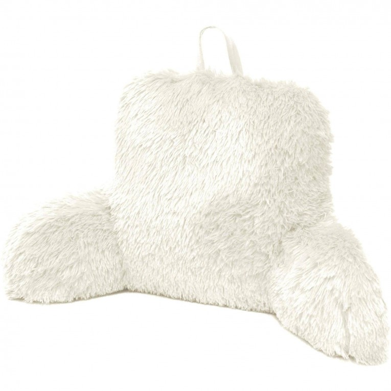White Backrest Pillow With Arms