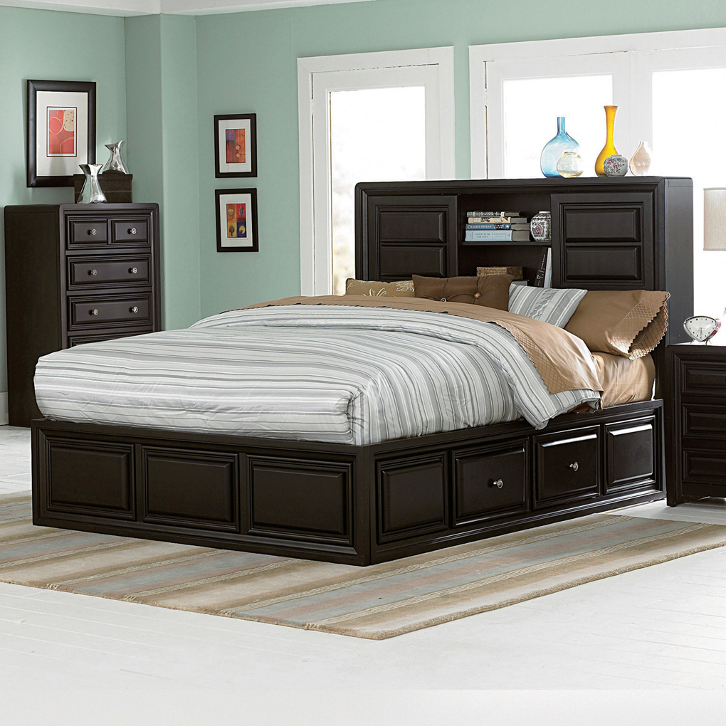 wonderful black queen size platform bed with storage