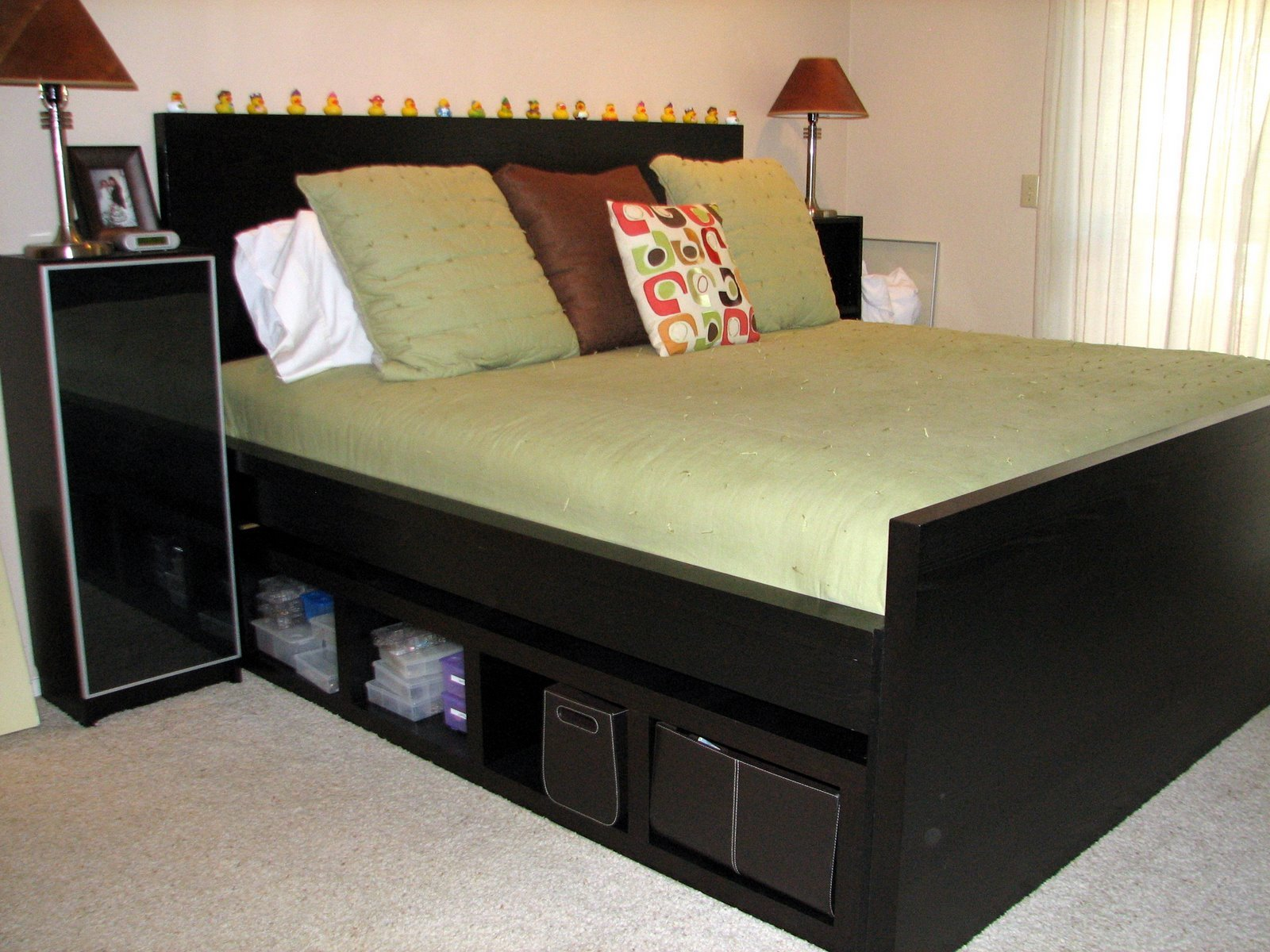 wonderful black storage cabinet with queen size platform bed with storage