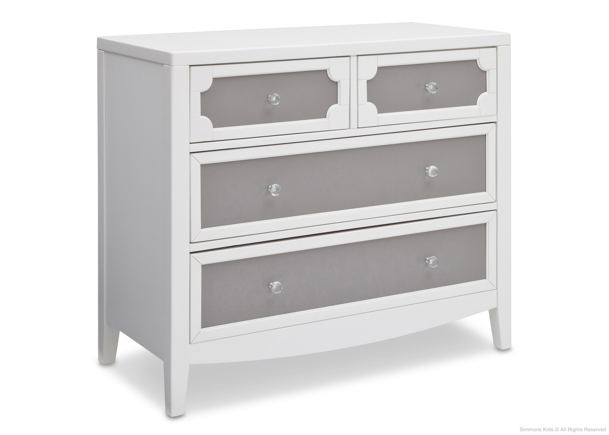 Wondrous 4 Drawer Dresser White And Gray Color Combine