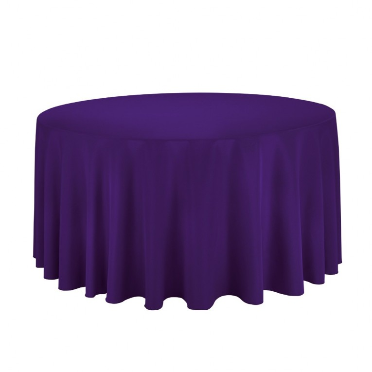 Wondrous Purple 120 Round Tablecloth
