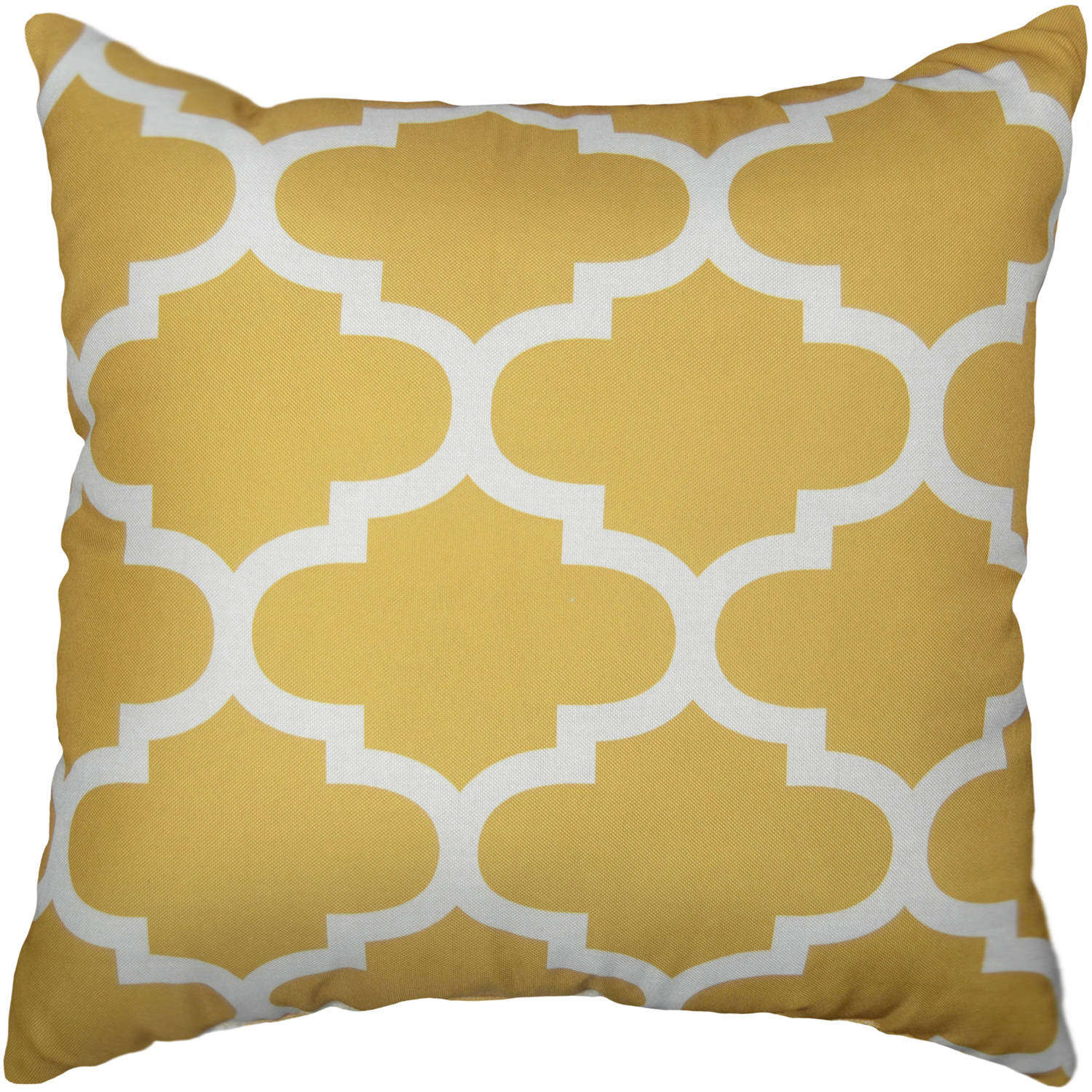 yellow color and white pattern sofa pillows