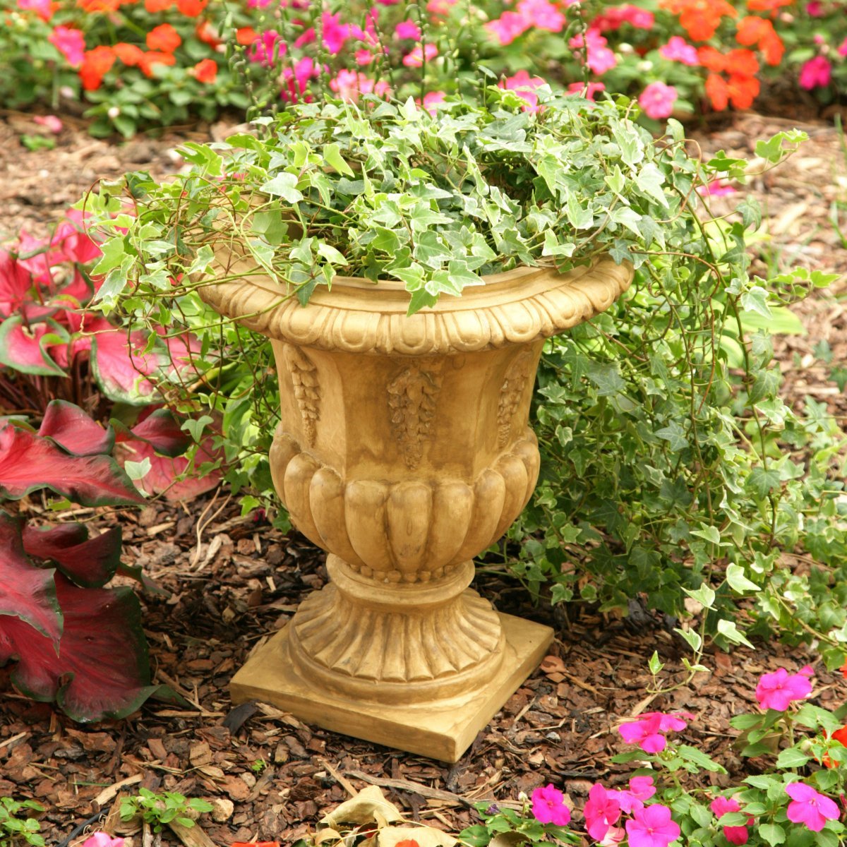 yellow orchid urn planters for garden